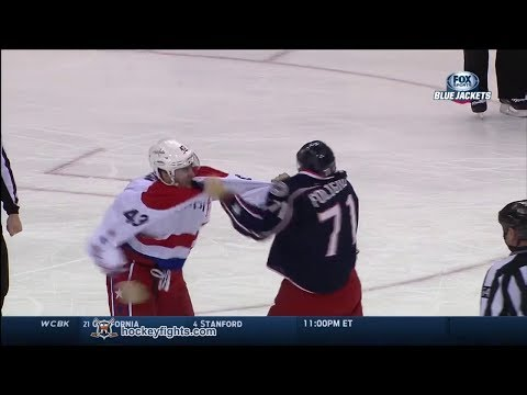 Tom Wilson vs Nick Foligno