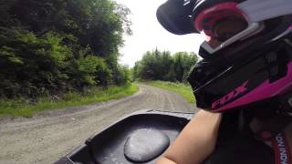 preview picture of video 'ATVing in the Maniwaki Quebec Trails'