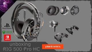 Unboxing Plantronics RIG 500 Pro HC | PS4 | Switch | Xbox | deutsch | Headset