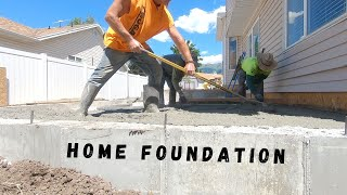 Home Addition On A Budget (EP. 2 Earthwork And Cement)