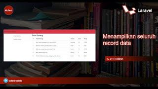 Menampilkan Seluruh Record Data