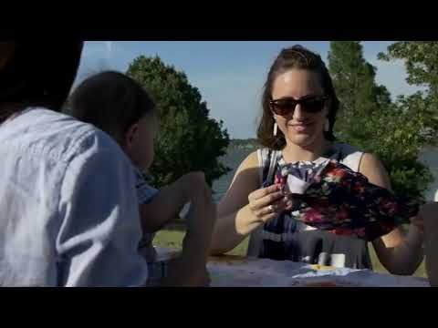 Накидка для кормления из хлопка 3 в 1 милкснуд / простынка / накидка для коляски Feeding Cover узор розовый фламинго (FС-21191) Video #1