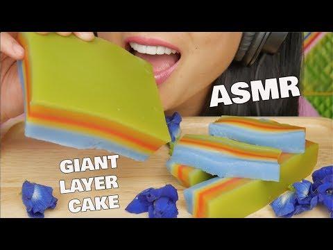 ASMR SOFT CHEWY EATING SOUND (GIANT SWEETS LAYER CAKE) SAS-ASMR