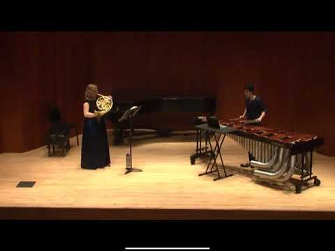 Sonata for Horn and Marimba by Charles Taylor  Featuring Colleen Bernstein on Marimba