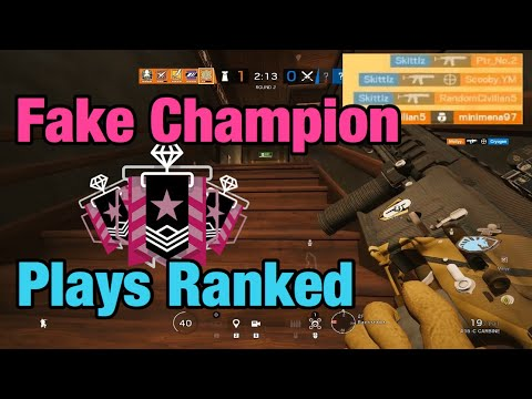 How A Fake Champion Plays Ranked - Rainbow Six Siege: Operation Ember Rise