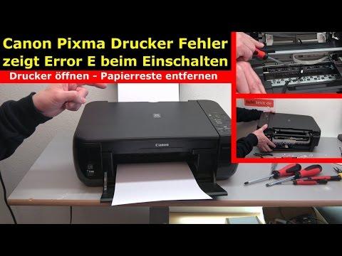 Canon Pixma Drucker Fehler / Error E | E03 wird im Display beim Einschalten angezeigt - [4K Video]