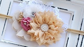 Make Baby Headband With Anjurisa #4 - Cloth Lotus Flowers