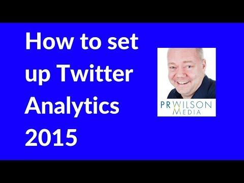 How to set up twitter analytics