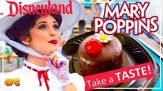 Mary Poppins Chocolate Cake   Themed Desserts w/ Souvenir Spoons at Disneyland