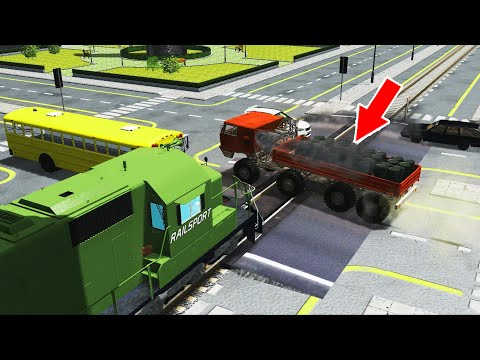Train Accidents #22 - BeamNG.Drive   CrashTherapy