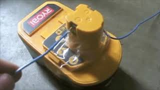 How to bring a Dead RYOBI battery back to life revive / rejuvenate / fix rechargeable NiCd battery