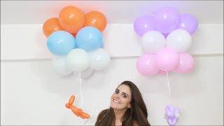 Neste vídeo você aprende passo a passo como fazer um pingente de balões, um enfeite para pendurar no teto e decorar suas festinhas infantis!!! Para meninos no tema aviões e para meninas no formato de flor. www.amofestas.com