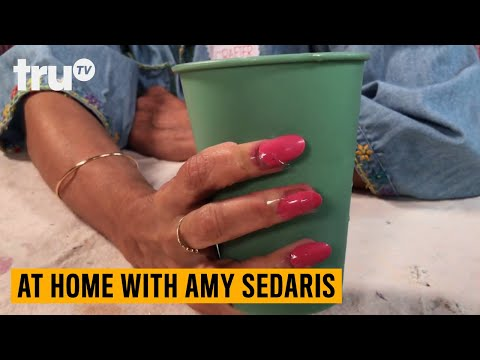 At Home Amy Sedaris Craft Tutorial: How To Apply Fake Nails | truTV