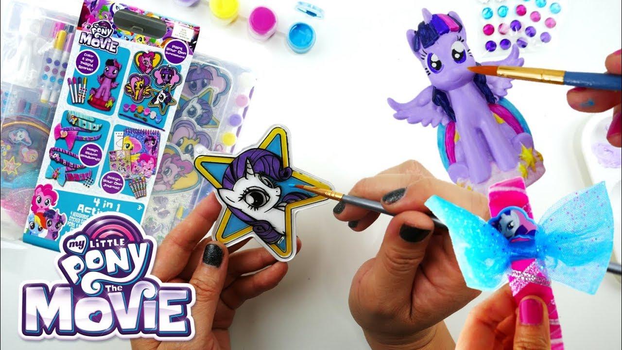 My Little Pony the Movie Activity Kit - 4 in 1 Headband Paint a Vinyl Activity Book Suncatcher
