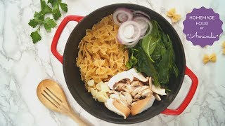 One-Pot Creamy Mushroom & Spinach Pasta Ready in 15 Minutes | Homemade Food by Amanda