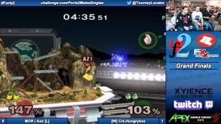 Forte 2 Melee - MOR Axe (Pikachu) vs Crs Hungrybox (Jigglypuff) - Grand Finals