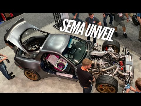 Unveiling the AWD 4 Rotor at SEMA. I fell asleep standing up but we made it!