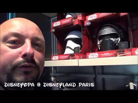 Disneyland Paris Star Wars Kostueme und Helme Merchandise Shop walkthrough 2017 DisneyOpa
