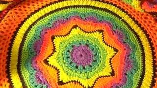 My Rainbow Afghan Pattern Test Video