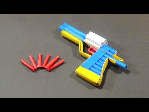 Paper Gun - How To Make A Paper Revolver With Trigger That Really Shoots |