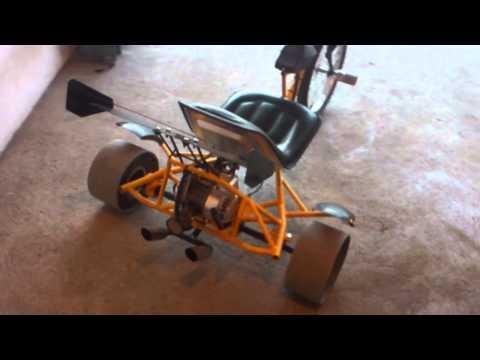 Triciclo drift trike casero con motor