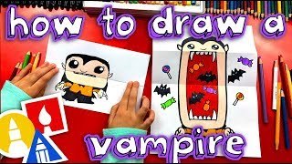 How To Draw A Big Mouth Vampire (Folding Surprise)