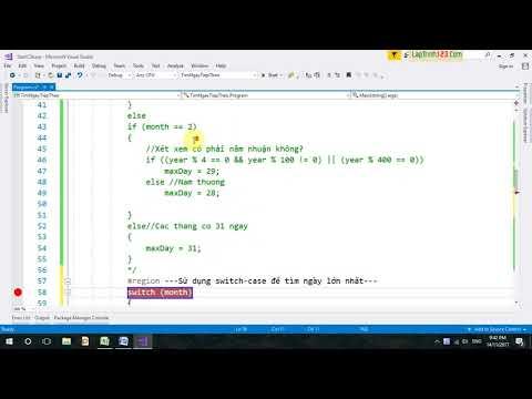 VD14 - Sử dụng câu lệnh Switch thay IF