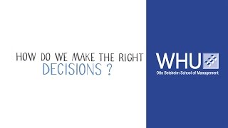 How to Reach the Right Decision – The Interaction of Analytics and Intuition   WHU on Controlling