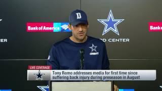 Tony Romo on Dak Prescott & 2016 Cowboys (Full Press Conference)   NFL