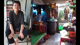 Bà cụ mắc bệnh tiểu đường không người thân sống trong khu ổ chuột tồi tàn