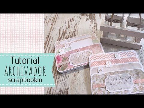 Tutorial Archivador scrapbooking imanes