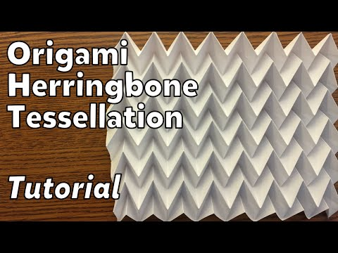 Origami Herringbone Tessellation | Tutorial