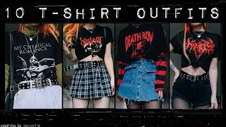 10 OUTFITS WITH BAND/GRAPHIC TEES!