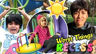 Worst Things Recess - Funny Playground Spoof - Primary School Student Skits // GEM Sisters
