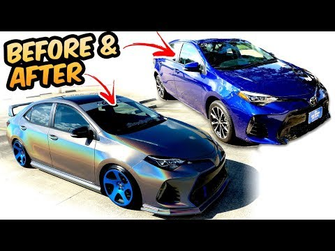 Before & After Mods 2017 Corolla SE  1 year process