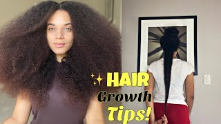 MY BEST TIPS On HOW TO GROW HEALTHY LONG NATURAL HAIR  FAST !!