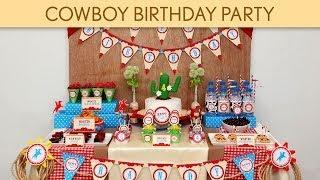 Cowboy Birthday Party Ideas // Cowboy - B29