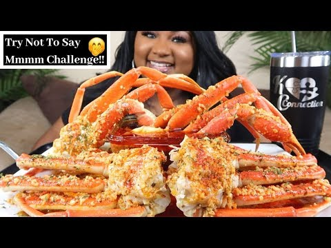 SEAFOOD BOIL MUKBANG , SNOW CRAB LEGS + BLOVES  SMACKALICIOUS SAUCE | Try Not To Say Mmmm Challenge