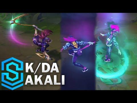K/DA 阿卡莉造型 展示聚光燈