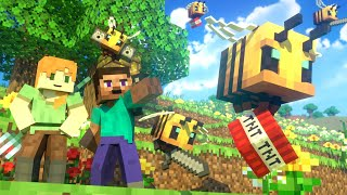 BEES FIGHT - Alex and Steve Life (Minecraft Animation)
