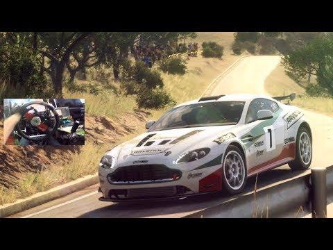 Dirt Rally 2.0 vs $2000 Rig - Aston Martin V8 GT4 / Spain Touge Run