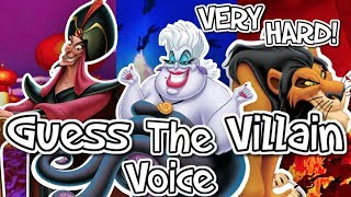 👿GUESS THE DISNEY VILLAIN VOICE!👿 VERY HARD!
