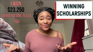 HOW TO WIN SCHOLARSHIPS | 6 Tips for High School and College Students No One Talks About