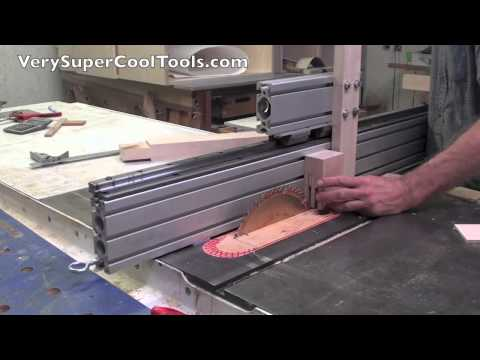 World's Greatest Tenoning Jig Attached To Aluminum Extrusion Table Saw Fence