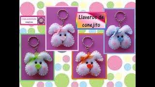 ♥♥Detalles Para Pascua♥Llaveros De Conejo ♥ Creaciones Mágicas♥♥