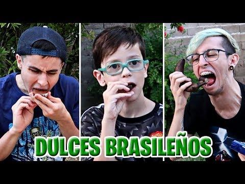 PROBANDO DULCES BRASILEÑOS !! - RobleisIUTU