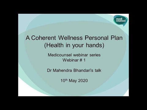 A Coherent Wellness Personal Plan (Health in Your Hands)