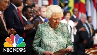 Queen Elizabeth Welcomes Commonwealth Leaders To Palace And Tips Charles As Successor | NBC News