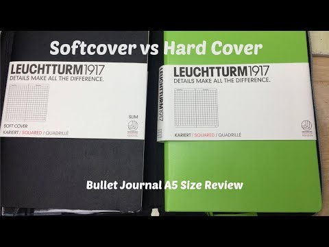 Softcover vs Hard Cover: Leuchtturm 1917 A5 Square Grid