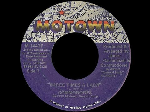 The Commodores ~ Three Times A Lady 1978 Soul Purrfection Version
